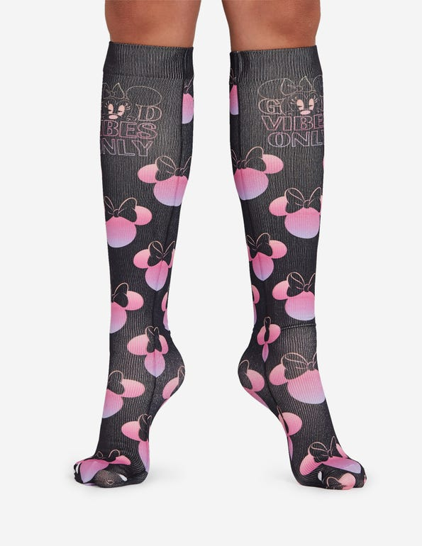 Minnie Good Vibes Soul Support Knee High Compression Socks